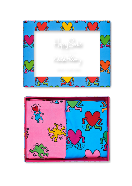 Bielizna damska Happy Socks x Keith Haring (2-pak) Cheeky XKEH97-3000