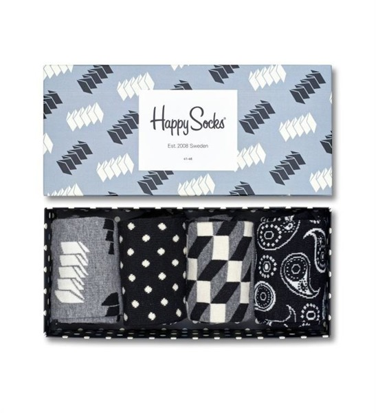 Giftbox (4-pak) skarpetki Happy Socks XOPT09-9000