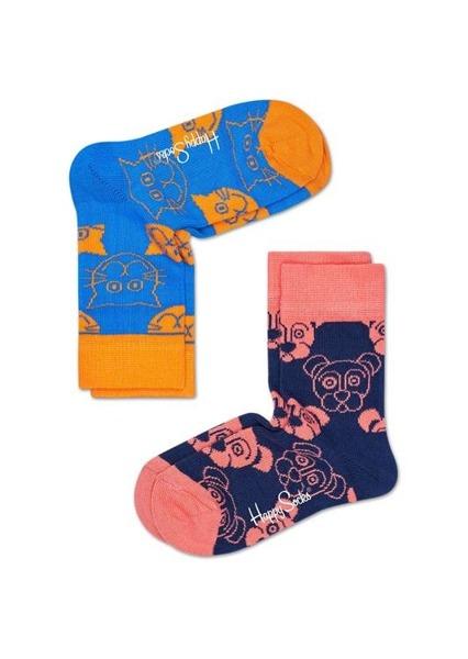 Skarpetki dziecięce (2-pak) Happy Socks KMJA02-6000